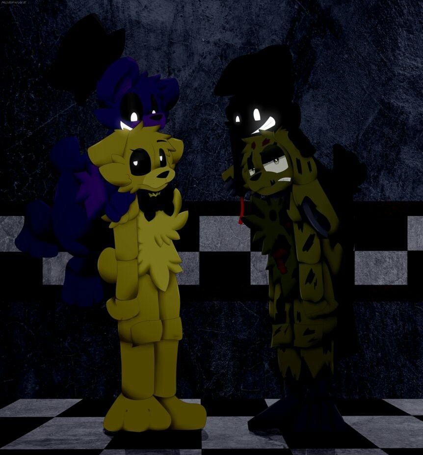 Shadow Fnaf Golden Freddy Springtrap Fnaf Golden Freddy Anime Fnaf Fnaf Drawings