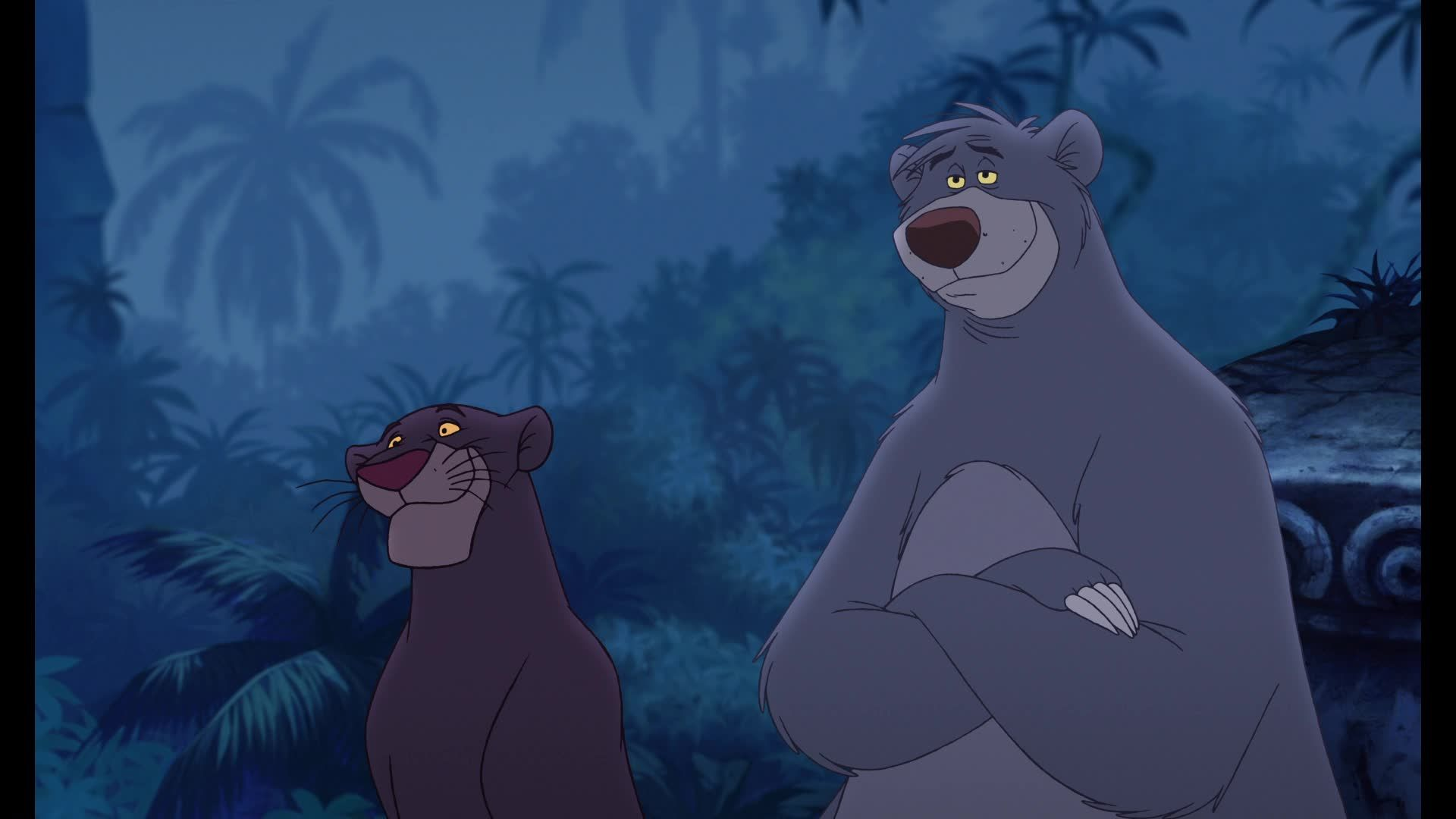 "Bagheera (Bob Joles) and Baloo (John Goodman) from ""The ..."