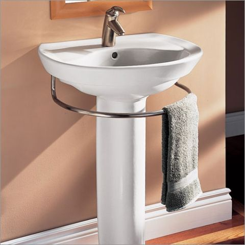 Pedestal Sink Towel Bar Toweltender One Option Since I Can