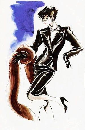Antonio Lopez Yves Saint Laurent 1983 Con Imagenes Bocetos De