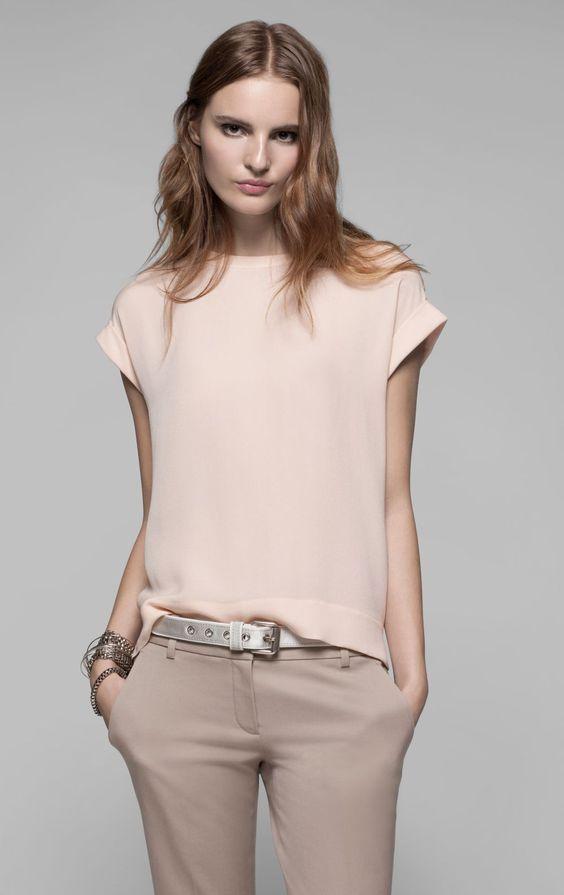 Блузки из шелка (80 фото): с чем носить шелковые блузки ...