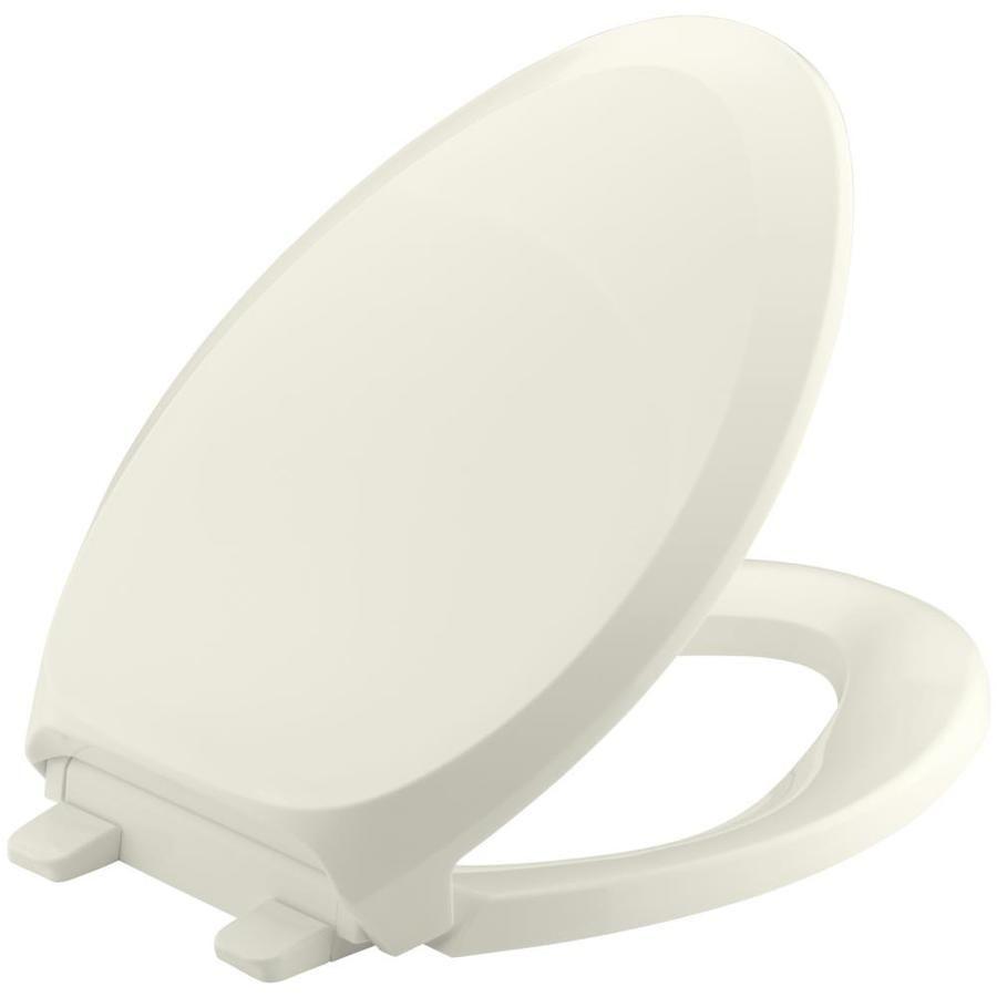 Kohler Quiet Close Grip Tight French Curve Plastic Elongated Slow
