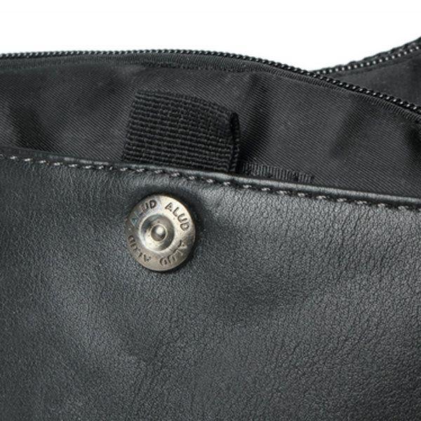 Men Nylon Crossbody Bag Black Chest Pack Solid Leisure Bag
