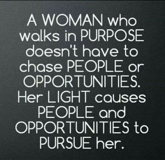 A woman with purpose