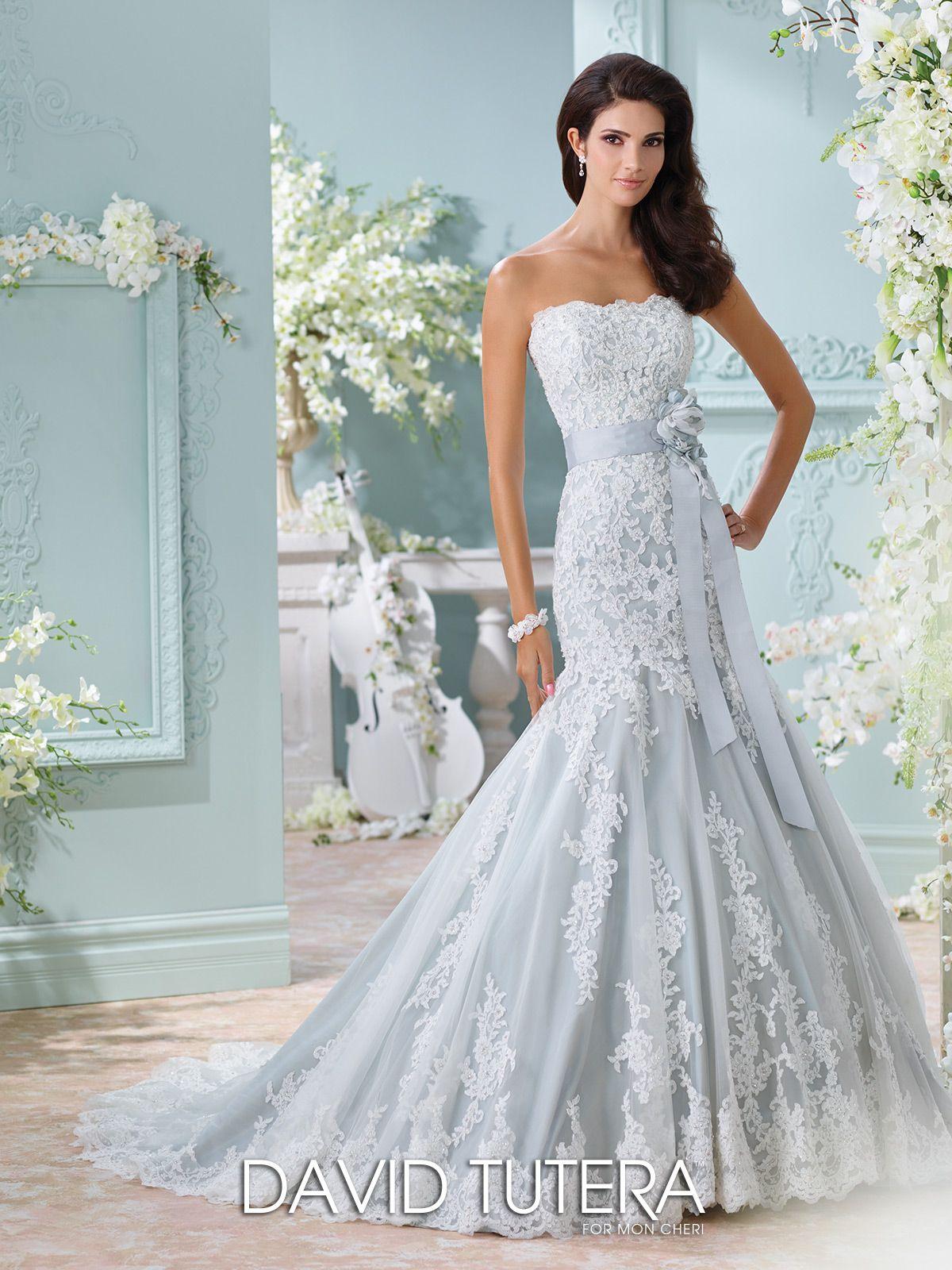Unique Wedding Dresses Fall 2018 - Martin Thornburg | Blue wedding ...