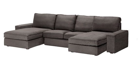 Fabulous ikea kivik chaise loveseat with chaise snack ikea for Chaise snack
