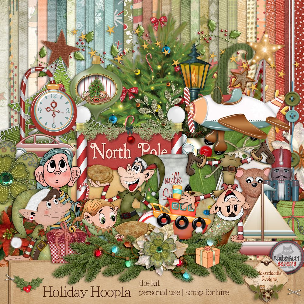 Personal Use Kits Holiday Hoopla {Page Kit