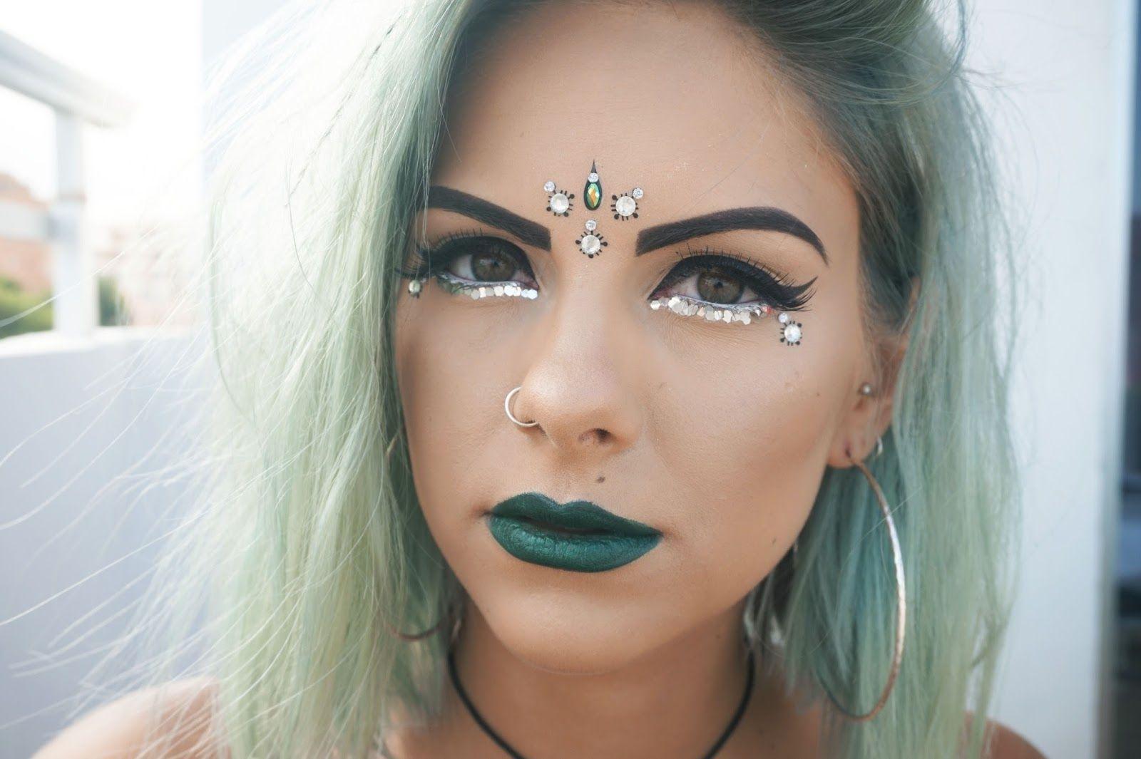 green ibiza makeup sophie hannah richardson beauty pinterest make up 90er und carneval. Black Bedroom Furniture Sets. Home Design Ideas