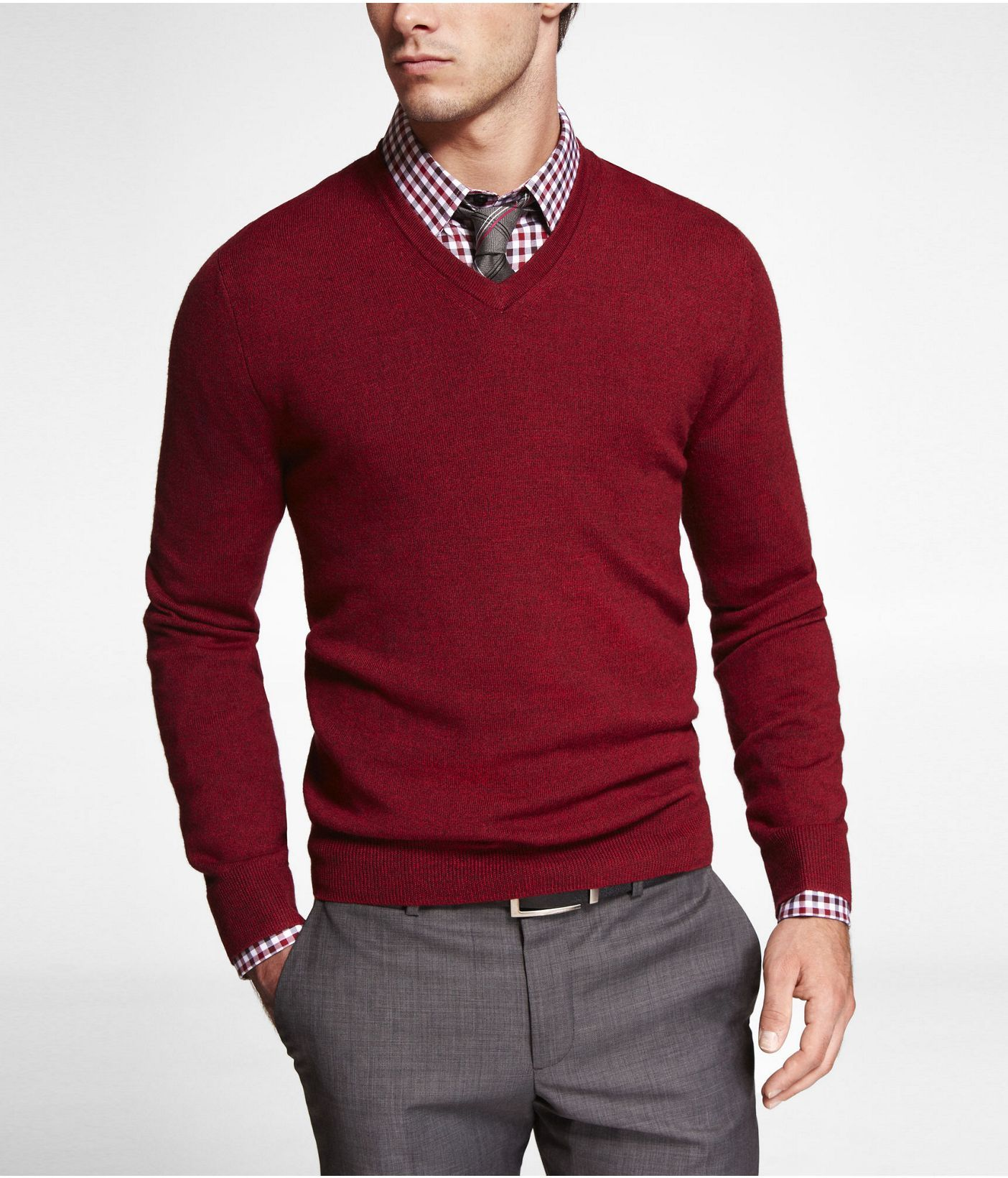 MERINO WOOL V-NECK SWEATER | Express | Style | Pinterest | Merino ...