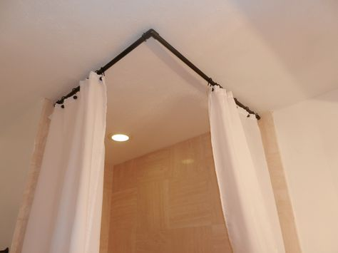 90 Degree Curved Shower Curtain Rod Corner Shower Curtain Rod