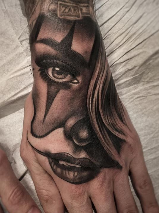 Pin De Shorty Hps En Clown Girl  Tattoos, Chicano Tattoos -4888