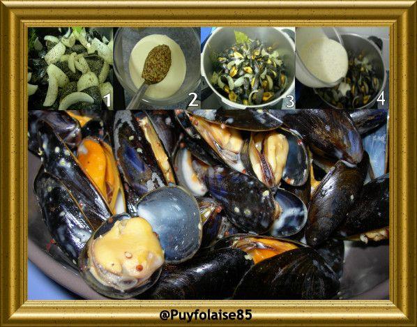 Moules de Bouchot, sauce à la moutarde à lu0027ancienne - La cuisine de