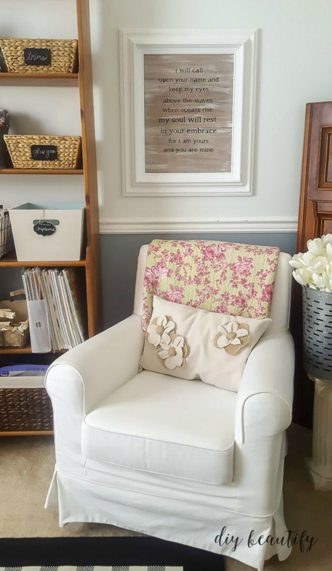 Wow I Turned My Tiny Dining Room Into A Dedicated Office And Craft Space Full Of Farmhouse Charm Clever Storage Come By Diy Beautify To See All The