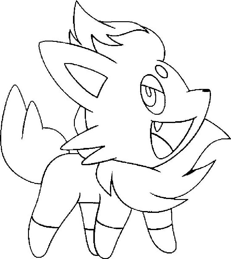 Pokemon Coloring Pages Zorua In 2020 Pokemon Coloring Pages