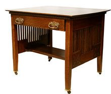 Art and Craft Oak Desk, c 1900