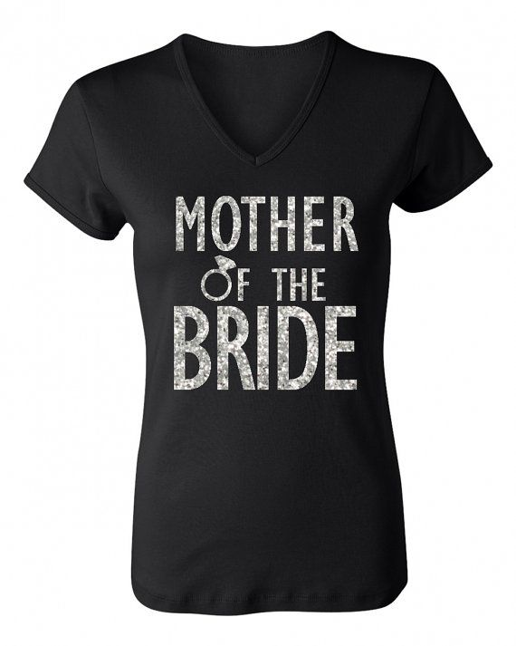 33ab545e4b57a MOTHER of the BRIDE GLITTER Shirt Black by NobullWomanApparel