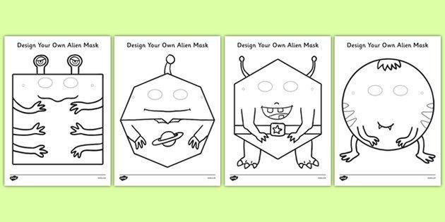 Design Your Own Alien Mask - Masks, space, aliens, planets, design ...