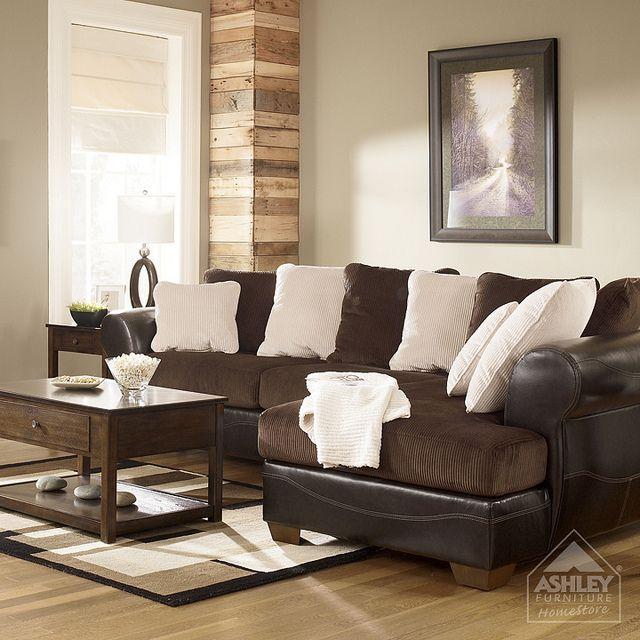 Ashley Furniture Homestore Victory Chocolate Sectional Ashley Home Furnishings Furniture Ashley Furniture Sofas