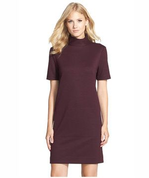Donna Morgan Mock Dress Knit Shift Dress | Polished, timeless frocks to wear all autumn (and winter) long.