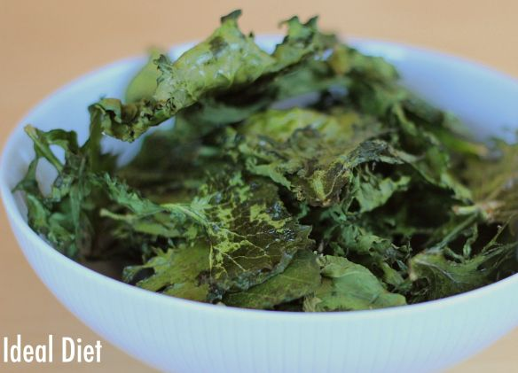 Low Maintenance Kale Chips #idealproteinrecipesphase1dinner