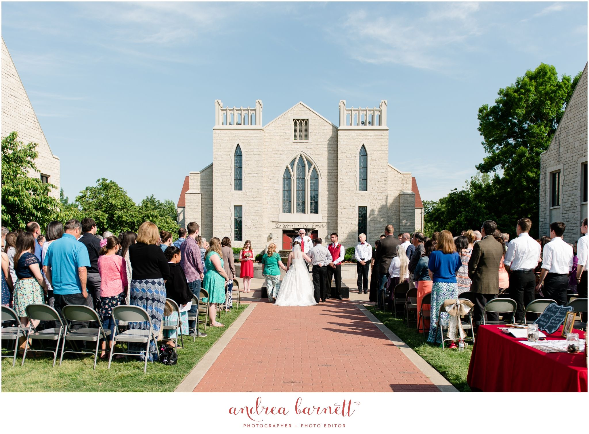 Outdoor Wedding At John Brown University Cathedral Of The Ozarks In