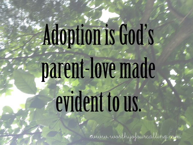 Adoption is hard.  It is good. It is long. And God can be evident if you let him. Loosen that grips mamas!