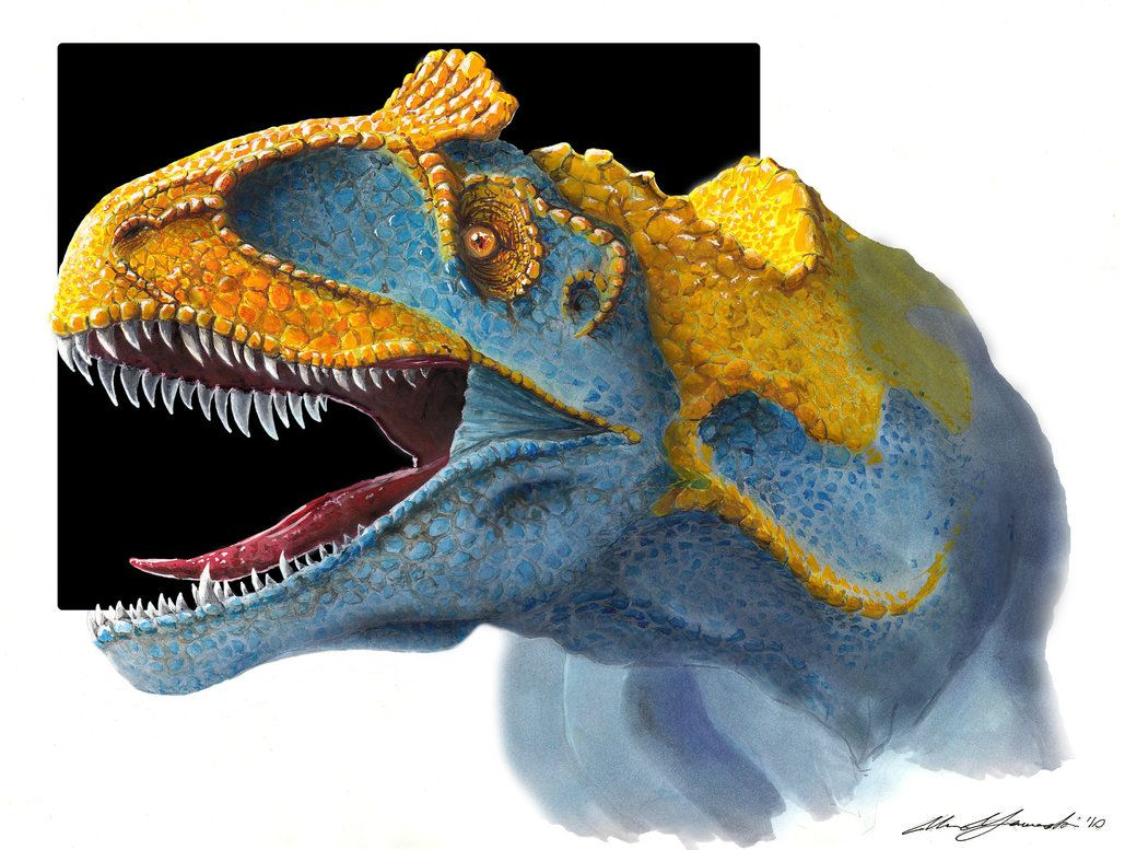Cryolophosaurus by Shaka-zl on DeviantArt