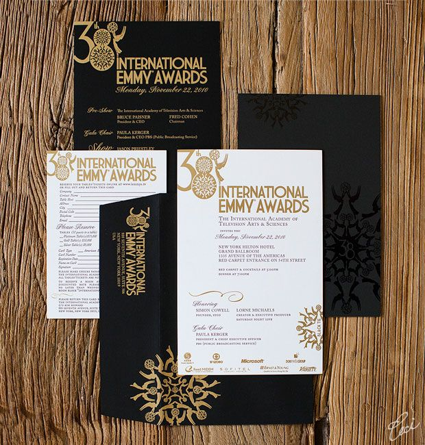 Emmy Awards - Event Invitations - Corporate - Ceci Event - Ceci New - best of handmade formal invitation card
