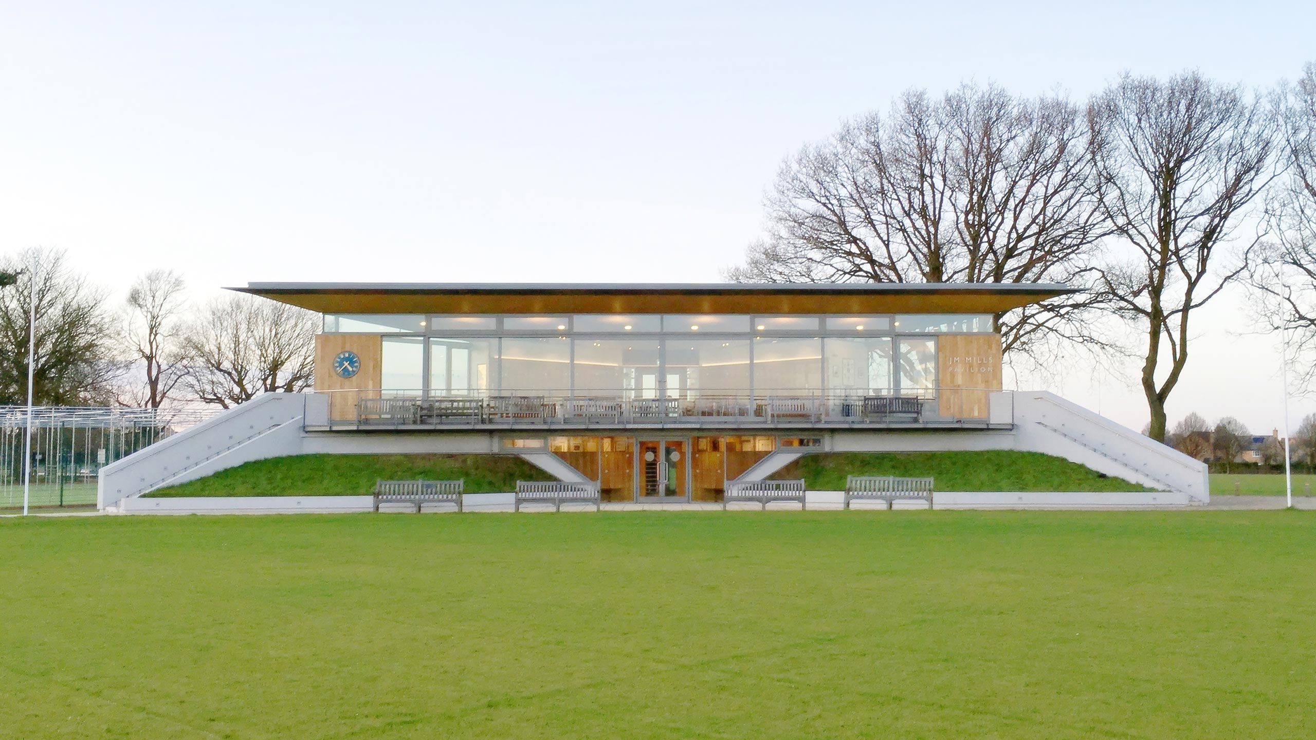 When A Pre Tender Estimate Of Around 800 000 To Repair And Refurbish Their Existing Cricket Pavilion Attracted Pavilion Design Outdoor Paving Pavillion Design