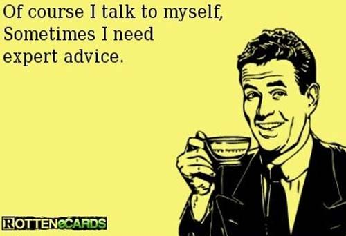 Talking To Yourself Funny Quotes Funny Just For Laughs