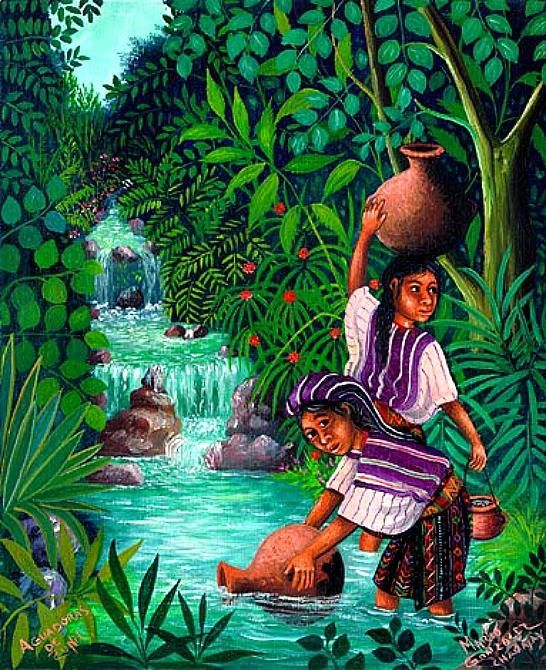 Chavajay Mayan Naive Oil Paintings from the Santiago ...