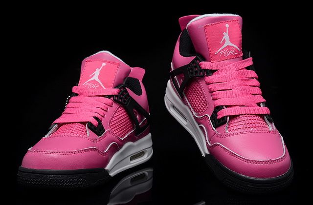 brand new ead45 77292 Women's Air Jordan 4 Retro Shoes Pink White Black | #jordans #23 ...