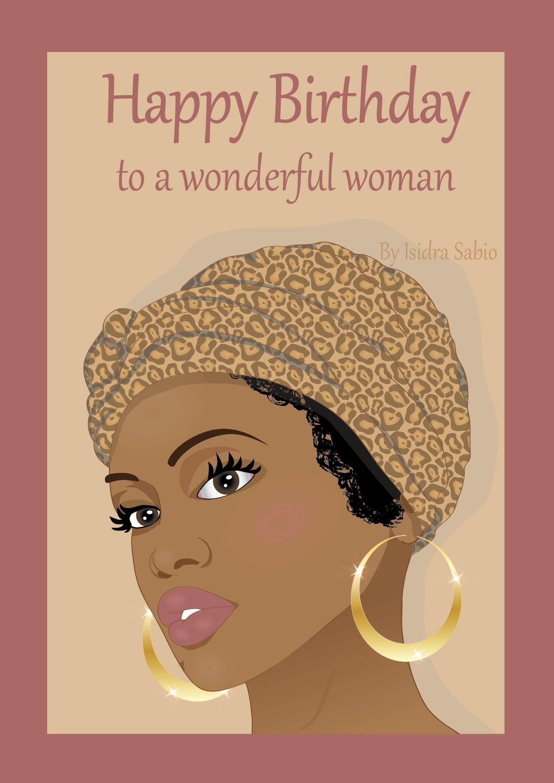 Happy Birthday Images Black Woman : happy, birthday, images, black, woman, Birthday, Women, Wonderful, Woman, Headscarf, Happy, Black,, Greetings, Women,, African, American