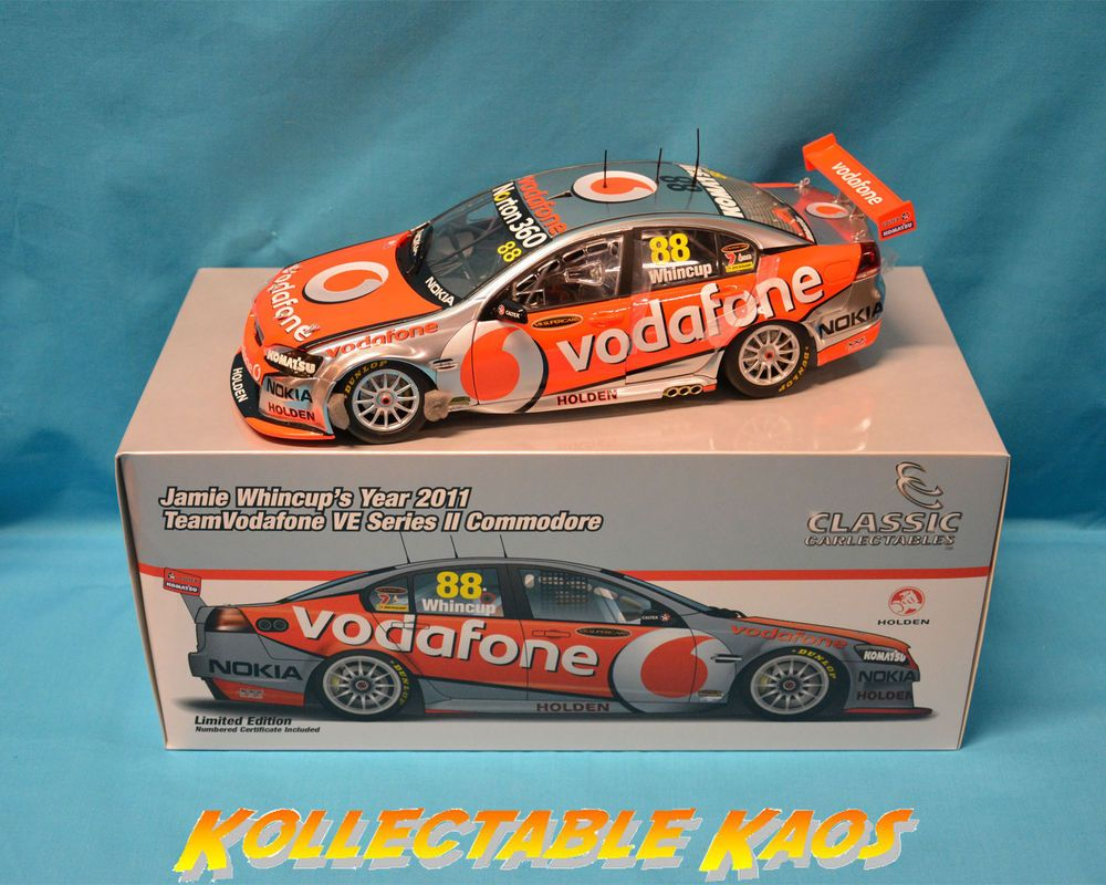 Vodafone toys images   Classics   TeamVodafone VE Commodore  Jamie Whincup NEW