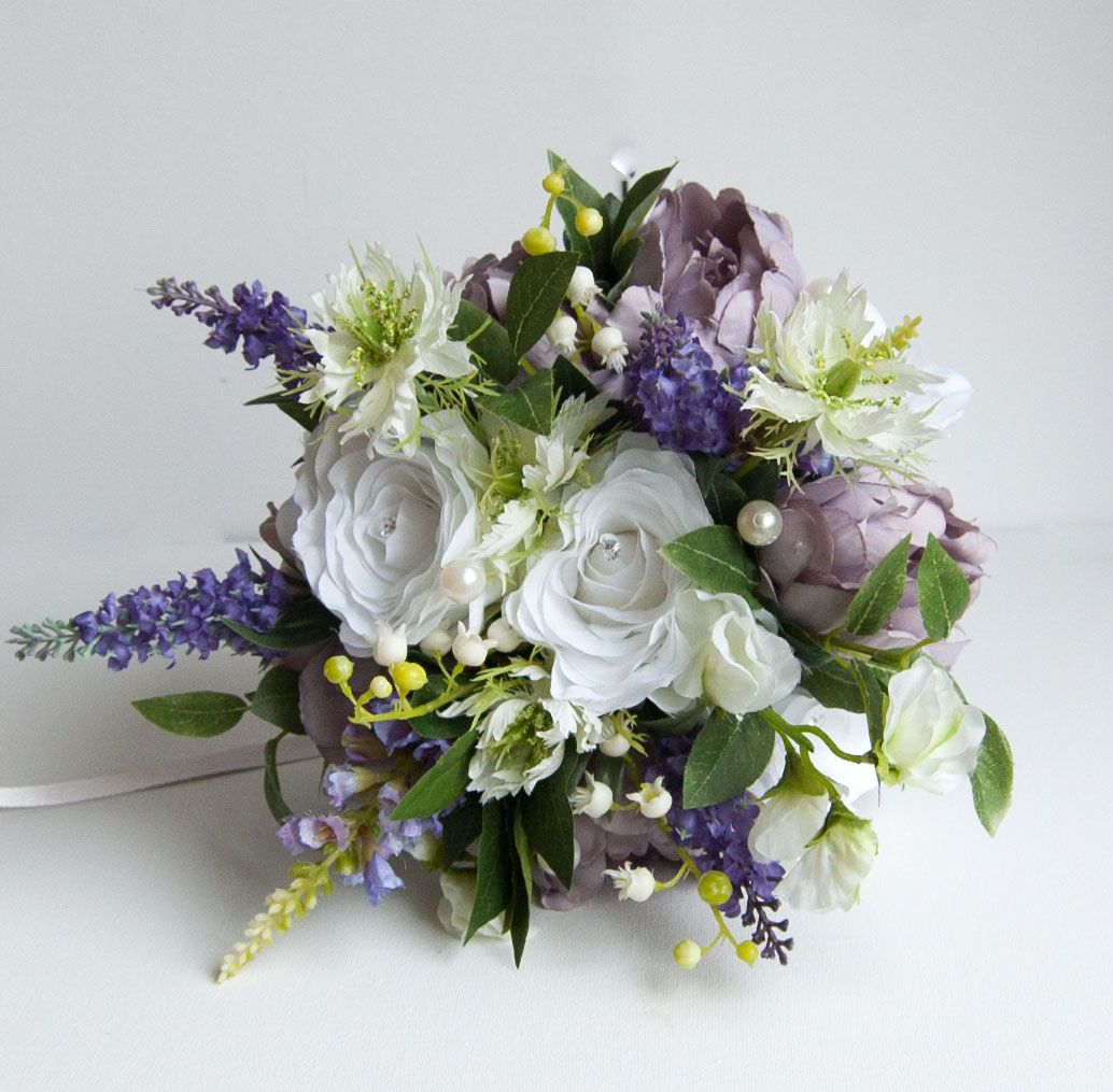 Lush Lilac Unstructured And Free A Mixture Of Flower Types For A Natural Country Garden Bouquet With That F With Images Artificial Flowers Wedding Flowers Event Flowers