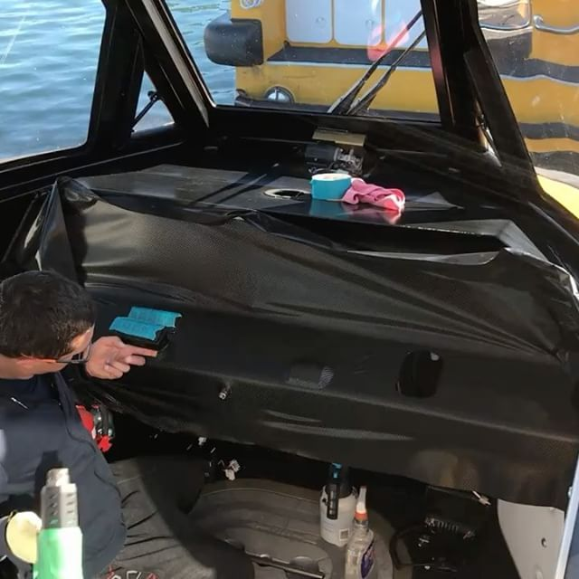 Carbon fibre boat dash wrap x2 done today along with matte