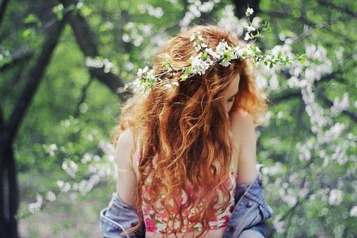 perfect color #hair #girl #ginger #beautiful #flowers #spring #summer #vintage #hipster