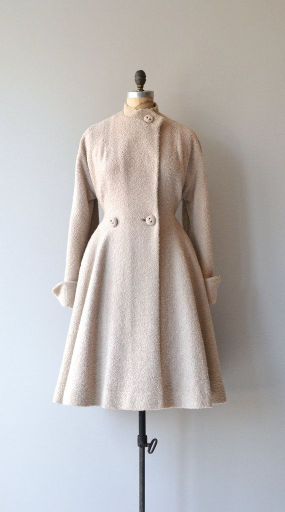 Flour Mill boucle wool coat 1950s wool princess by DearGolden