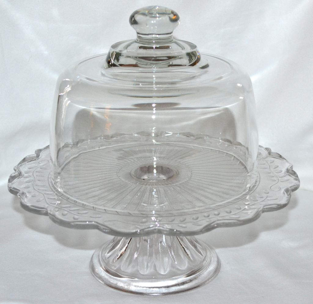 Heavy glass cake or cheese dish dome cover replacement lid
