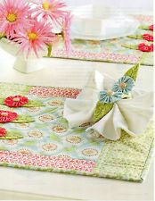 Sign Of Spring Place Mats Quilt Pattern Pieced/Applique CM Napkin Ring