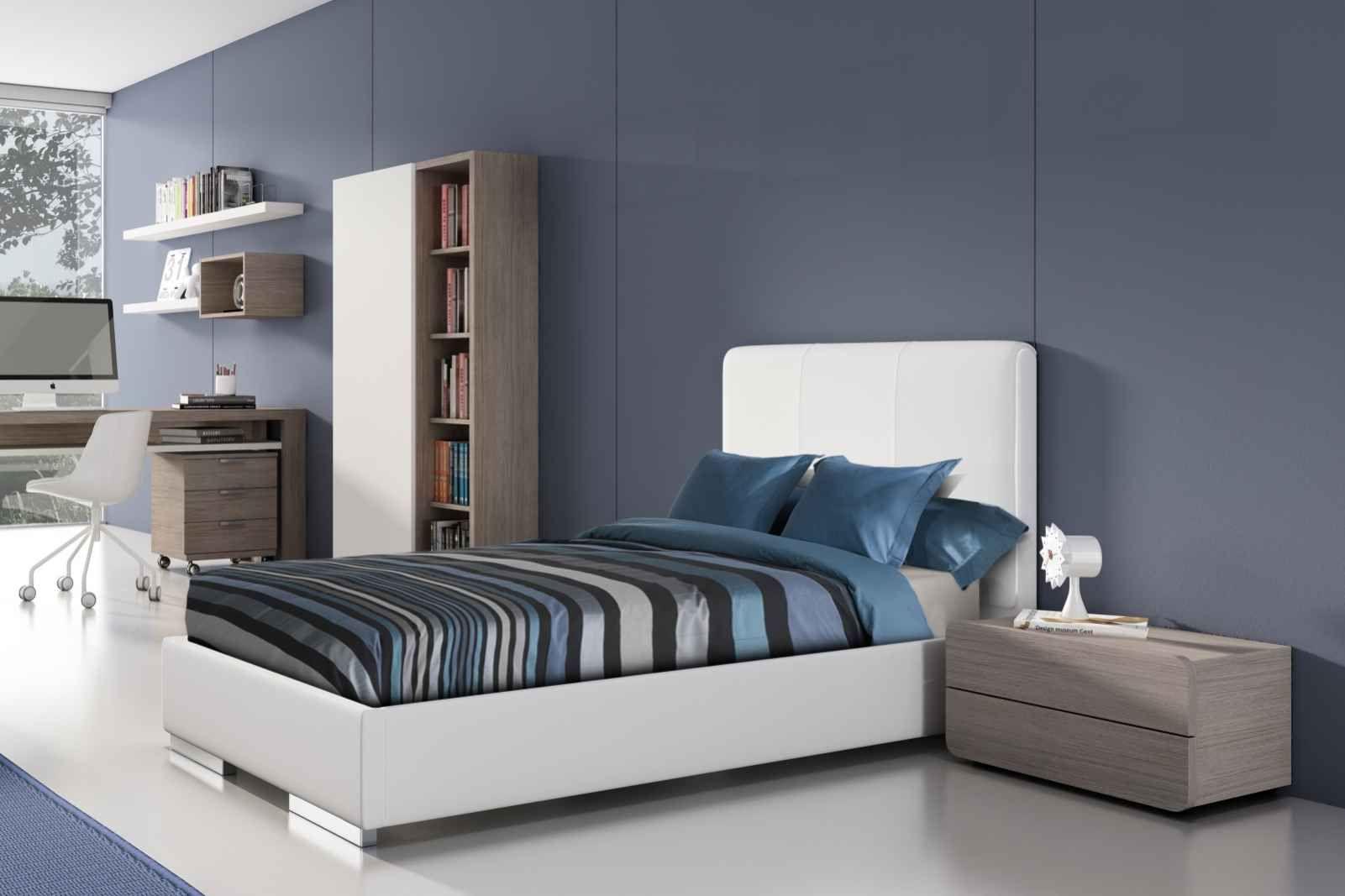 Schlafzimmer Versace ~ Das schlafzimmer in blau akzent mit enzo bett von gamamobel