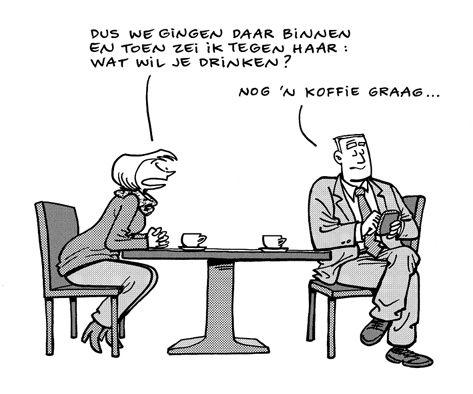 Flirten cartoon