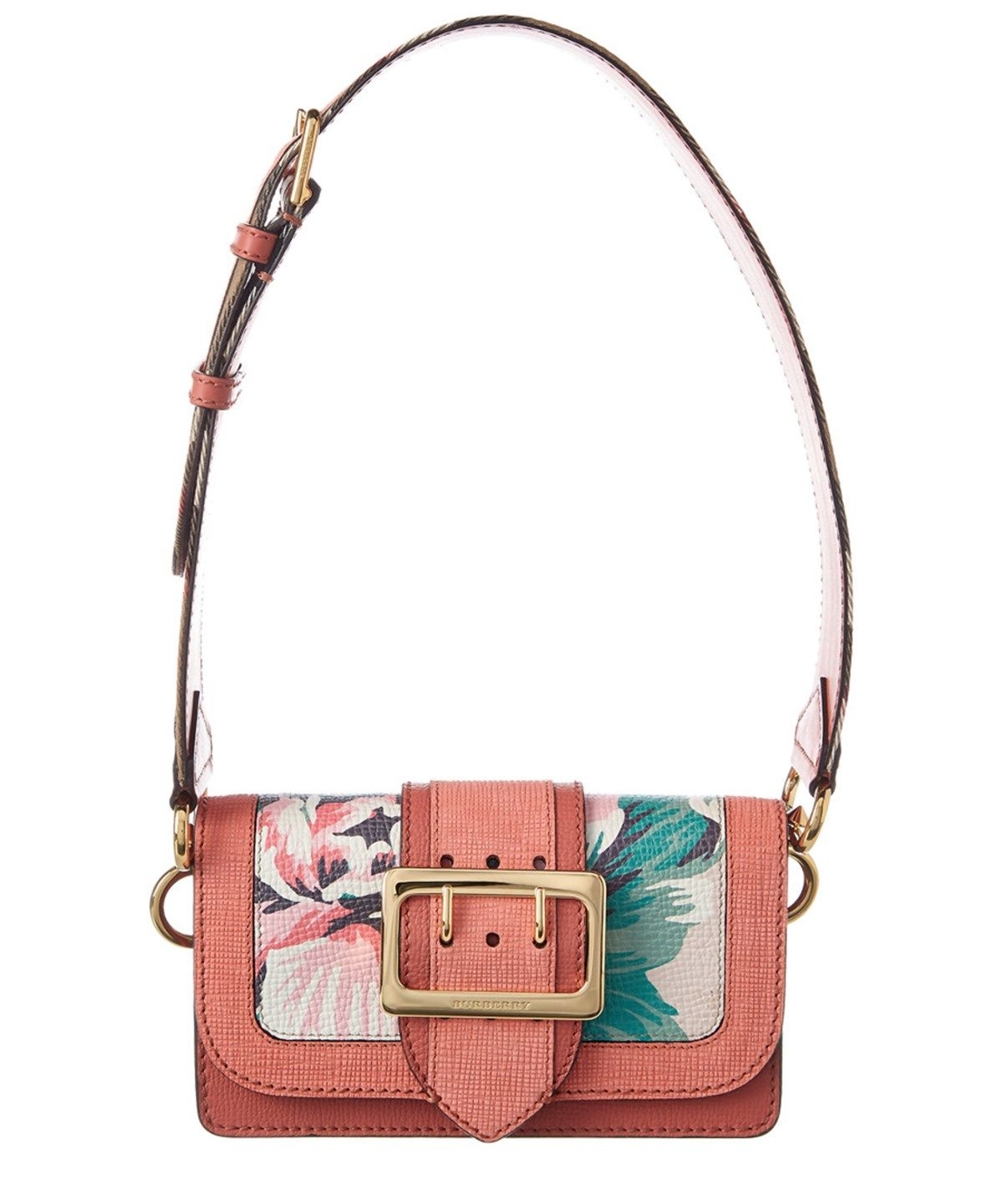 BURBERRY Burberry Peony Rose Print Small Leather Buckle Bag .  burberry   bags  shoulder bags  leather  lining   f440141009