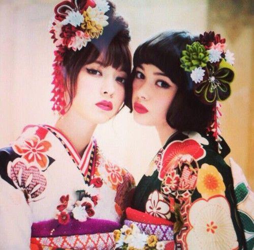 girls, 着物, and tamashiro tina imageの画像