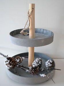 beton etagere rund aus holz im puristischen look grau. Black Bedroom Furniture Sets. Home Design Ideas