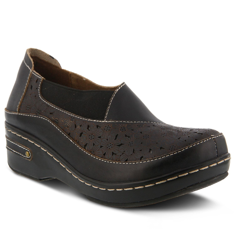 Lartiste by spring step brunbak womens shoes black