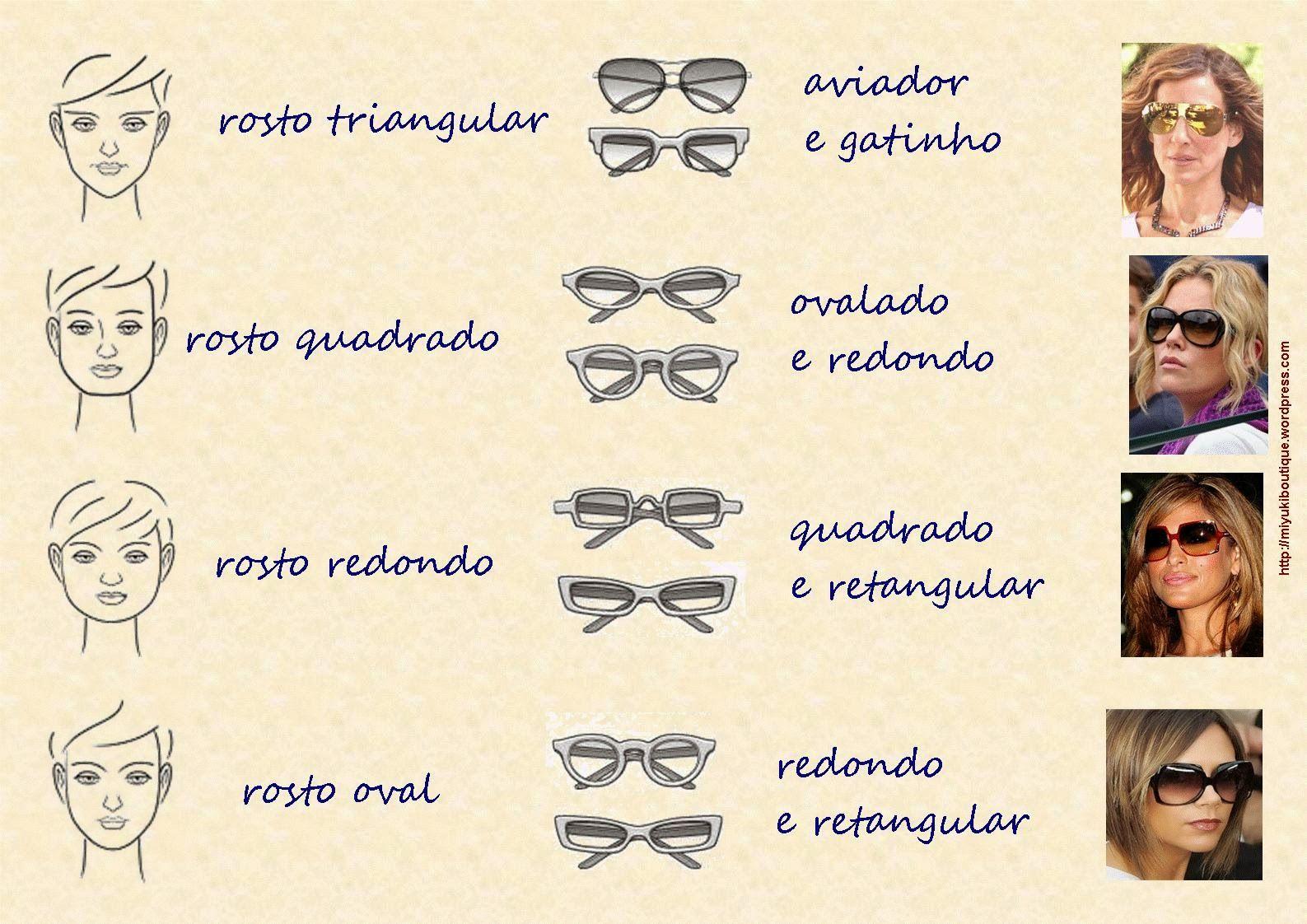 Como usar óculos de sol para cada tipo de rosto   Penteados de 2019 ... f752a9189d