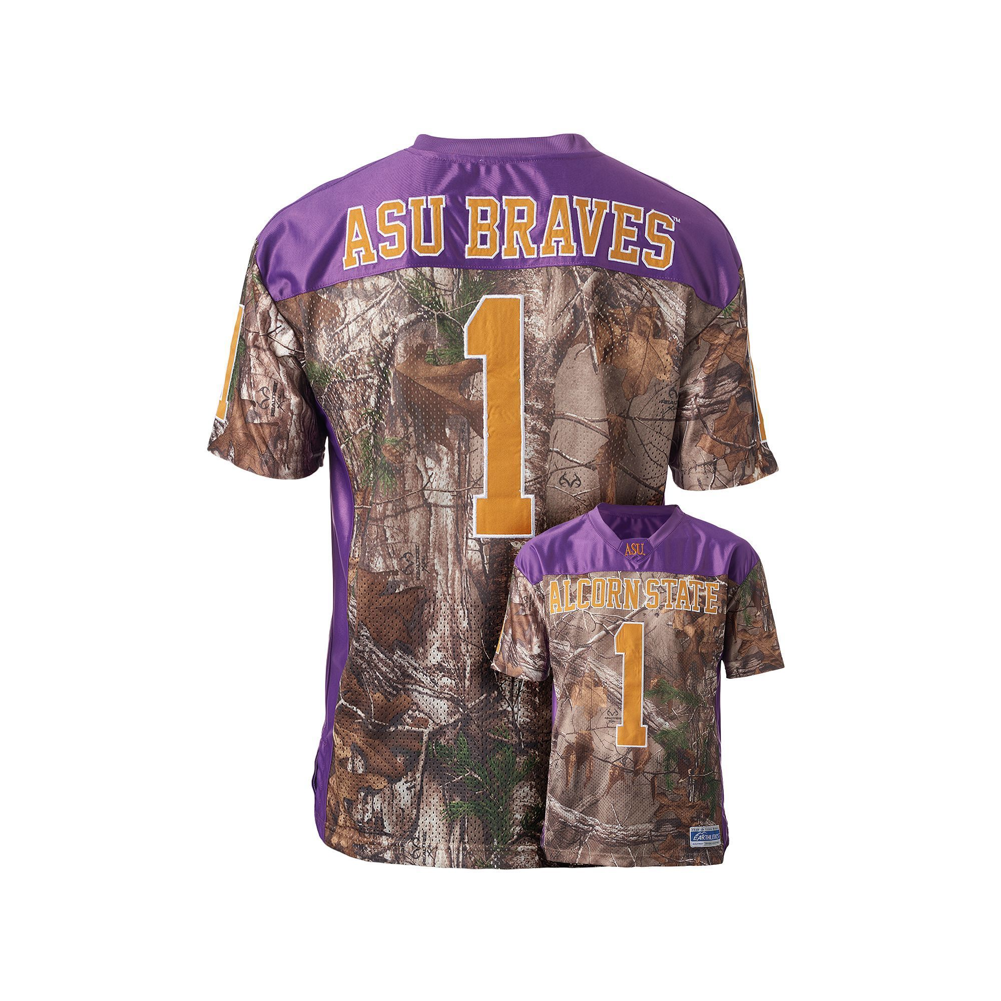 finest selection 60379 703f0 Men's Alcorn State Braves Game Day Realtree Camo Jersey ...