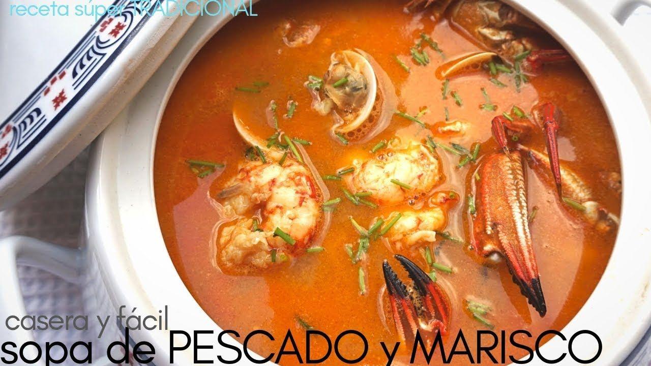 Sopa De Pescado Y Marisco Fácil Receta Navideña Youtube Sopa De Pescado Recetas De Sopa De Pescado Sopa De Mariscos Receta
