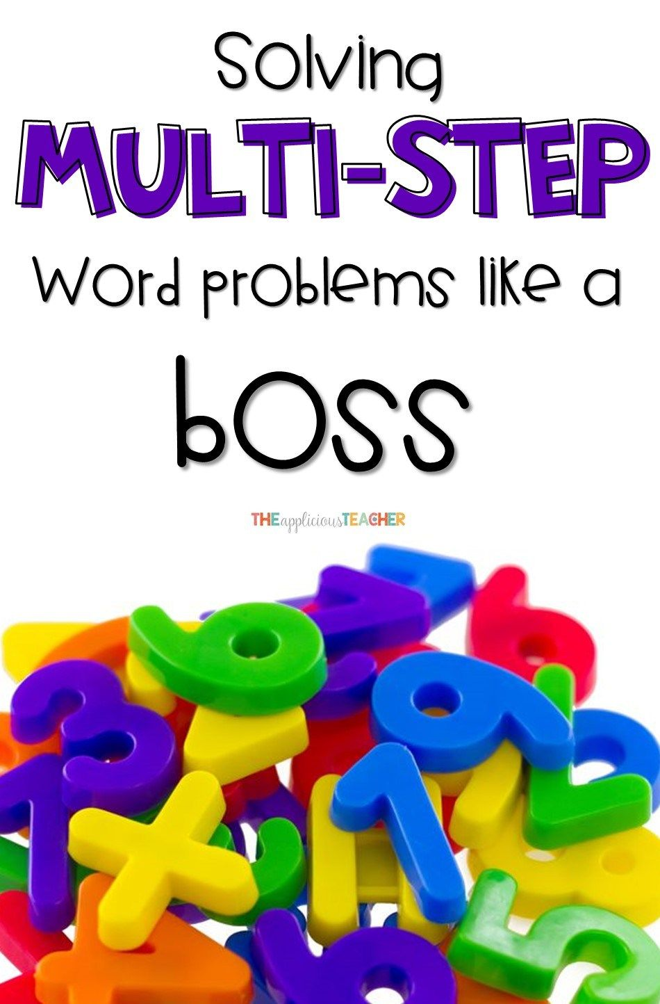 This simple technique makes solving multi step word problems a breeze! I love that the process includes a model, collaboration, and independent practice piece. There's a free printable at the end, too!